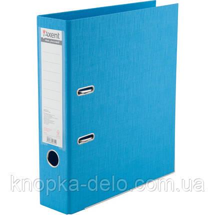 Папка-регистратор Axent Prestige+ 1722-29C-A, A4, с двусторонним покрытием, корешок 7.5 см, светло-голубая, фото 2