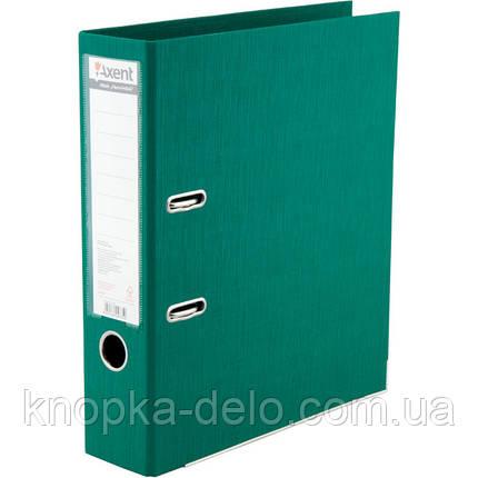 Папка-реєстратор Axent Prestige+ 1722-04P-A, A4, з двостороннім покриттям, корінець 7.5 см, зелена, фото 2