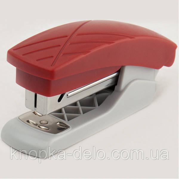 Степлер Axent Duoton 4720-06-A пластиковый, №24/6, 20 листов, серо-красный
