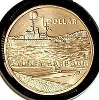 """Монета Австралии 1 доллар 2017 г. Серия """"Война рядом с домом"""" Сиднейская гавань"""