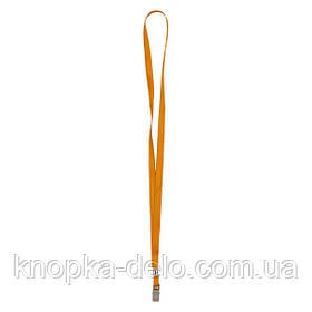 Шнурок для бейджа с металлическим клипом Axent 4532-12-A, оранжевый
