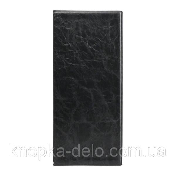Візитниця з впаяними файлами Axent 2502-01-A Xepter, 80 візиток, чорна