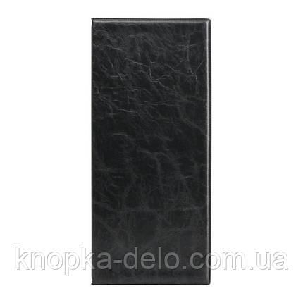 Візитниця з впаяними файлами Axent 2502-01-A Xepter, 80 візиток, чорна, фото 2