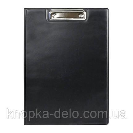 Папка-планшет с металлическим клипом Axent 2513-01-A, А4, черная, фото 2