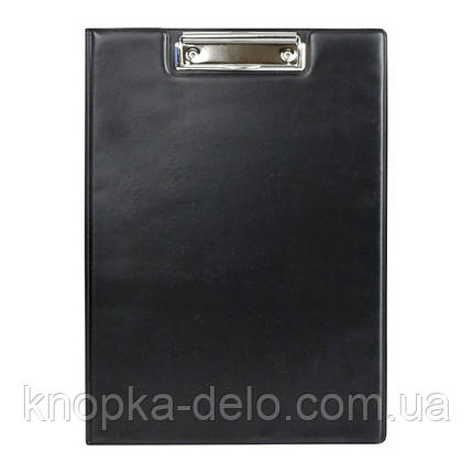 Папка-планшет з металевим кліпом Axent 2513-01-A, А4, чорна, фото 2