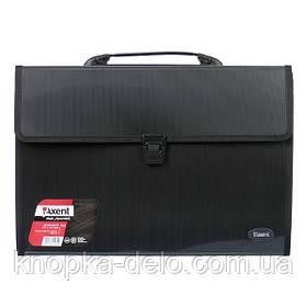 Портфель Axent 1602-01-A, В4, 3 отделения, черный