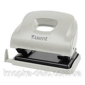 Дырокол Axent Ocean 3805-03-A с пластиковым верхом, 25 листов, серый