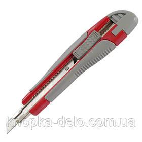 Нож канцелярский Axent 6701-A, с металлическими направляющими, резиновые вставки, лезвие 9 мм