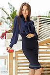 Классическая синяя блуза с длинным рукавом, фото 2