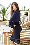 Классическая синяя блуза с длинным рукавом, фото 3