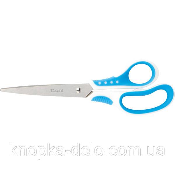 Ножницы Axent Shell 6305-02-A, 21 см, прорезиненные ручки, бело-голубые
