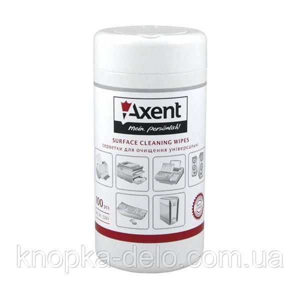 Салфетки для орг.техники влажные, 100 шт. Axent 5301-А