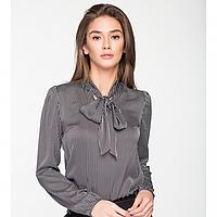 Женская блузка из шелка в черно - белую полоску., фото 1