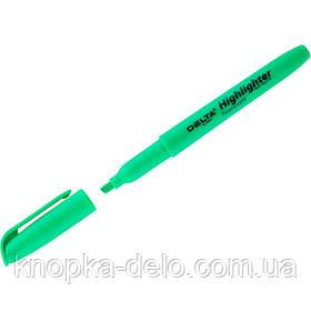 Маркер Delta Highlighter D2503-04, 2-4 мм, клиновидный зеленый
