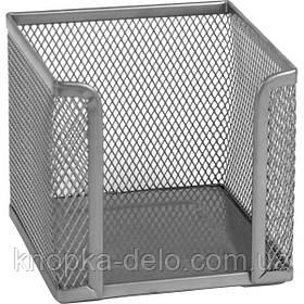 Куб для бумаги Axent 2112-03-A, 100х100х100 мм, металлическая сетка, серебристый