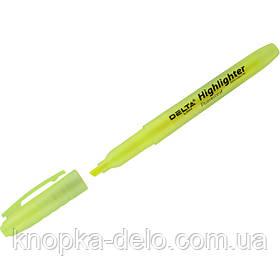 Маркер Delta Highlighter D2504-08, 2-4 мм, клиновидный желтый