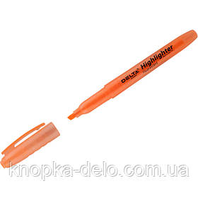 Маркер Delta Highlighter D2504-12, 2-4 мм, клиновидный оранжевый