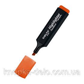 Маркер Delta Highlighter D2501-12, 1-5 мм, клиновидный оранжевый