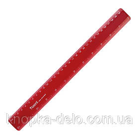 Линейка пластиковая Axent 7530-04-A, 30 см, бордовая