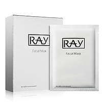Увлажняющая шелковая маска RAY для лица с коллоидным серебром/гиалуроновой кислотой и комплексом пептидов Facial Mask Silver (0072)