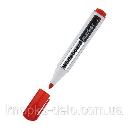 Маркер Delta Whiteboard D2800-06, 2 мм, круглый красный, фото 2