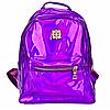 Рюкзак женский голографический в стиле Givenchy Фиолетовый