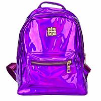Рюкзак женский голографический в стиле Givenchy Фиолетовый, фото 1