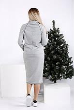 Женское повседневное трикотажное платье размеры: 42-74, фото 2