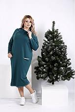 Женское повседневное трикотажное платье размеры: 42-74, фото 3