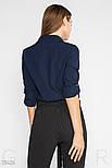 Оригінальна блузка синього кольору на запах, фото 3
