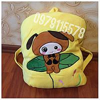 Плед игрушка подушка рюкзак желтый подарок для детей 3 в 1