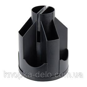Подставка-органайзер Delta D3004-01, 10 отделений, 125х155 мм, черная