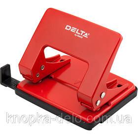 Дырокол металлический Delta D3520-06, 20 листов, красный