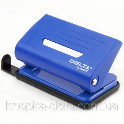 Дырокол пластиковый Delta D3610-02, 10 листов, синий, фото 2