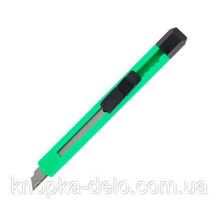 Нож канцелярский Delta D6525, лезвие 9 мм, зеленый, фото 2
