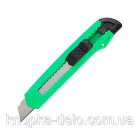 Нож канцелярский Delta D6526, лезвие 18 мм, зеленый