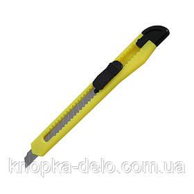 Нож канцелярский Delta D6521-02, лезвие 9 мм, желтый