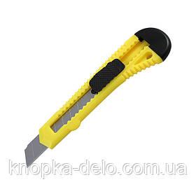Нож канцелярский Delta D6522-02, лезвие 18 мм, желтый