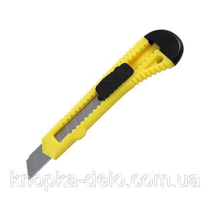 Нож канцелярский Delta D6522-02, лезвие 18 мм, желтый, фото 2