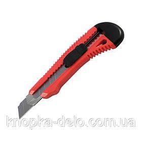 Нож канцелярский с металлическими направляющими Delta D6622-01, лезвие 18 мм, красный