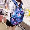 Рюкзак молодежный городской Галактика Космос Синий, фото 8