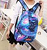Рюкзак молодежный городской Галактика Космос Синий, фото 7