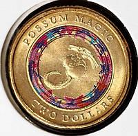 Монета Австралии 2 доллара 2017 г. Поссум