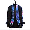 Рюкзак молодежный городской Галактика Космос Синий, фото 4