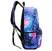 Рюкзак молодежный городской Галактика Космос Синий, фото 3