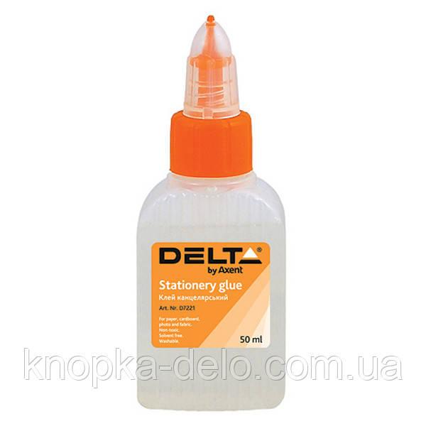 Клей канцелярский Delta D7221, 50 мл, колпачок-дозатор