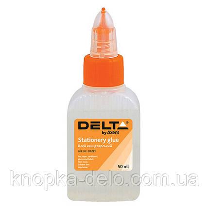 Клей канцелярский Delta D7221, 50 мл, колпачок-дозатор, фото 2