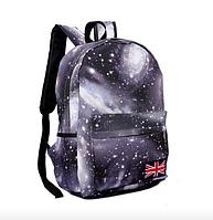 Рюкзак молодежный городской Галактика Космос Серый, фото 1