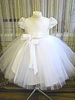 Белое детское платье .Детское платье на новый год
