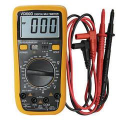 Цифровой мультиметр универсальный VC890D Желто-черный (sp3448)